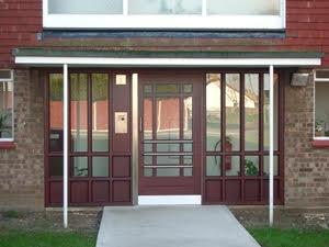 timber communal security door